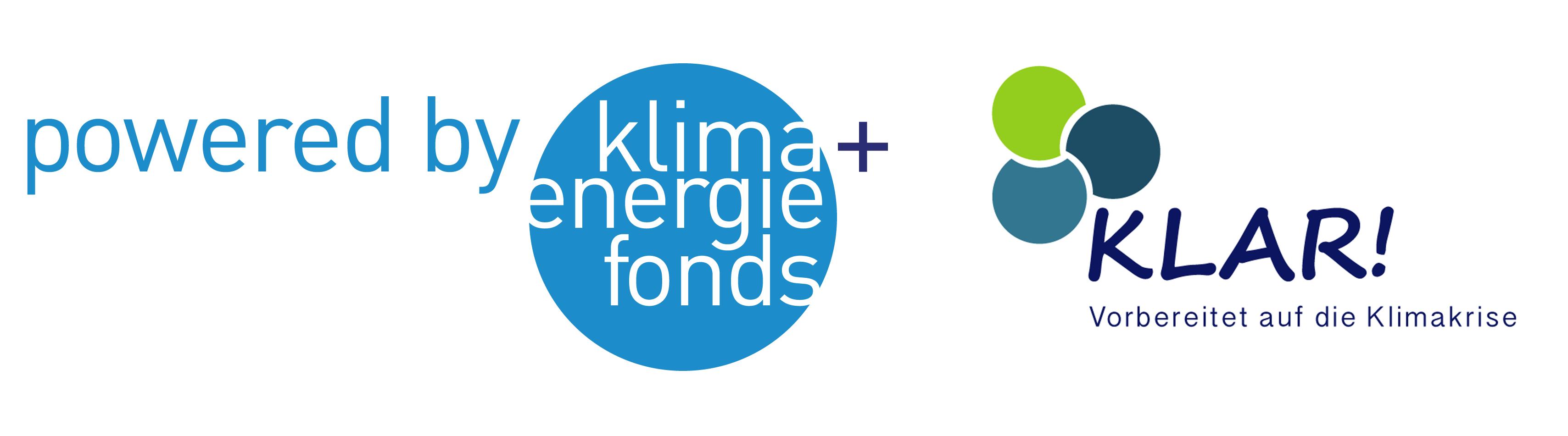 Logos KLAR und Klima- und Energiefonds