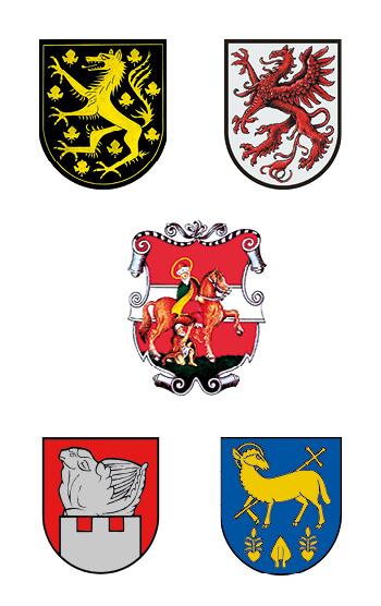 Wappen der Gemeinden der Wirtschaftsregion Hartberg